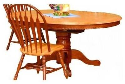 oval butterfly leaf dining table nutmeg li