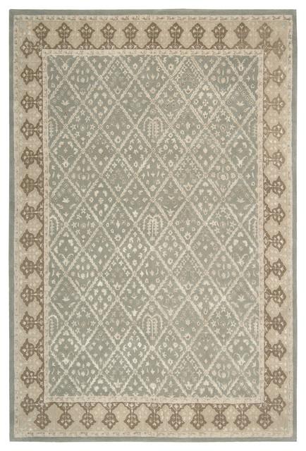 """Nourison Symphony SYM01 7'6"""" x 9'6"""" Light Green Rug contemporary-rugs"""
