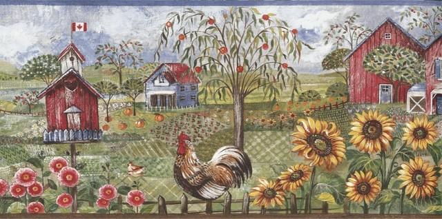framed rooster wallpaper border - photo #26
