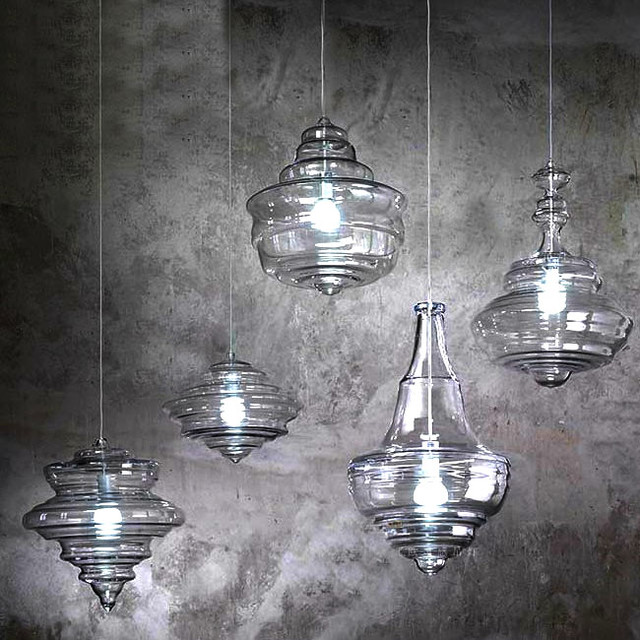 Elk Lighting Modern Farmhouse: Modern North Blown Glass Pendant Lighting In Chrome Finish