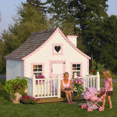Little Cottage 8 x 8 Gingerbread Wood Playhouse contemporary outdoor playsets