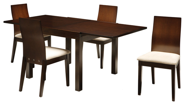 Brazil Small Dining Set With 4 Liberty Chairs Contemporary