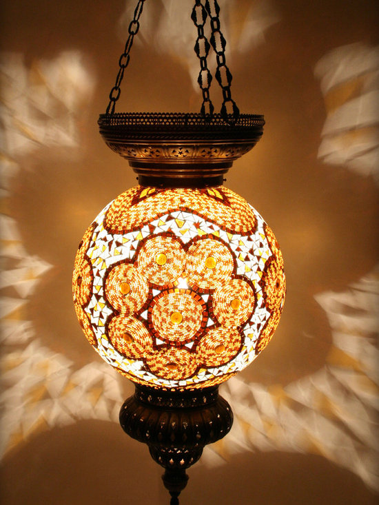 Turkish Style Mosaic Pendant Lamp 40 cm - Decorative Mosaic Glass Turkish Style Pendant Ligting