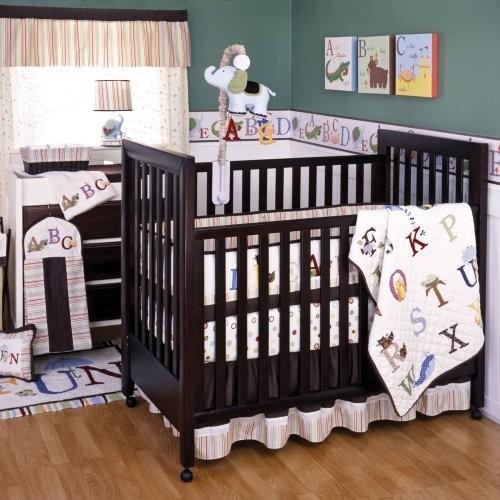 Kids Line My First ABC 6 Piece Crib Bedding Set traditional-baby-bedding