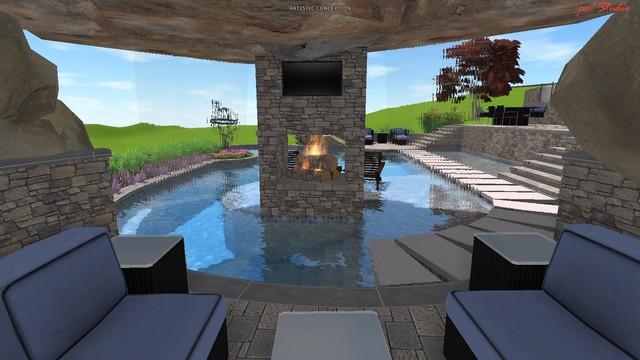 Contemporary Pool Designs contemporary-rendering