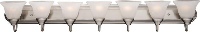 Maxim Lighting 8016Mrsn Essentials 7-Light Bath Vanity transitional-bathroom-lighting-and-vanity-lighting