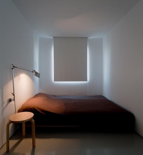 Small minimalist bedroom asian other metro for Minimalist one room apartment