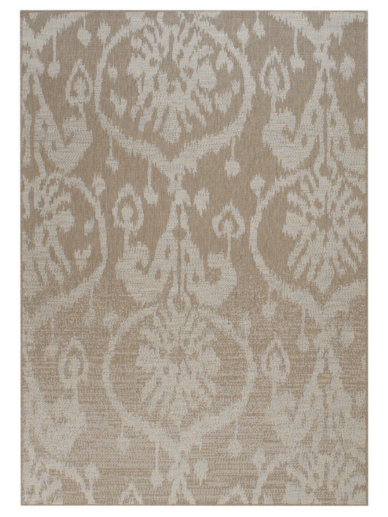 Thailand Sunburst rug in Khaki - Thailand' reweaves the rich, concentrated patterns of the Silk Road for today's fashion forward outdoorsy set.