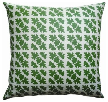 Hand Printed Canvas Shade Check Pillow modern pillows