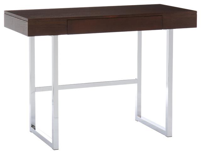 Micah Desk, Espresso/Chrome contemporary-desks-and-hutches