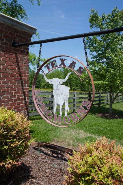 Bull Horn Ranch entry gate farmhouse