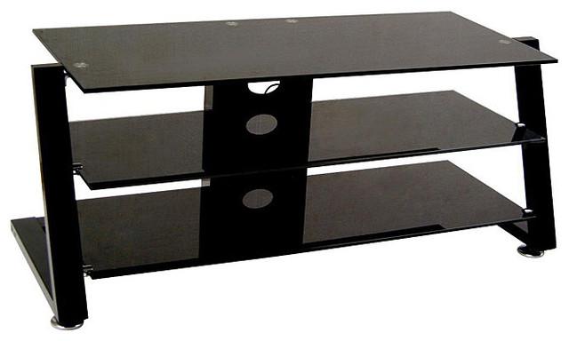 Leon Black 50-inch TV Media Console - Contemporary - Media Storage - by Overstock.com