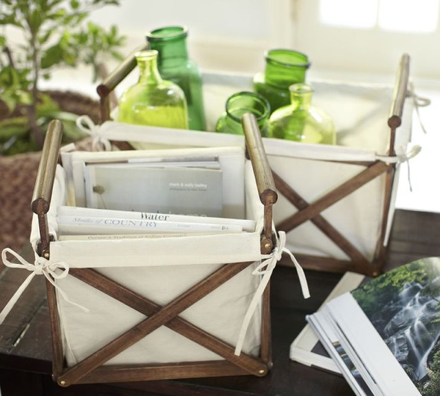 Canvas & Wood Crate contemporary-decorative-boxes