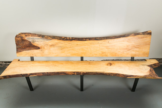 Live Edge Bench Contemporary Indoor Benches Philadelphia By Buchs Urban Rebuilds