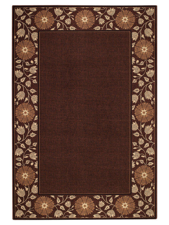 """Satin Kimono rug in Chocolate - The crisp, traditional designs, fashion forward colorations and extra tight packed pile (1/2"""" thick) will wear like iron and give years and years of superior service."""