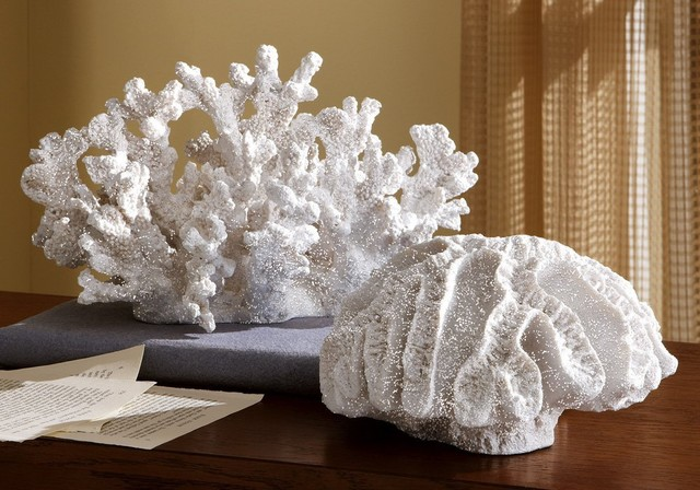 Ocean Coastal Beach Coral Sculpture tropical-sculptures