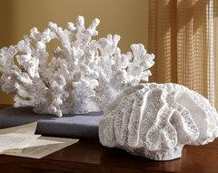 Ocean Coastal Beach Coral Sculpture tropical-decorative-accents
