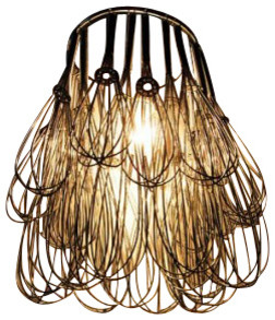 Wire Whisk Chandelier eclectic-chandeliers