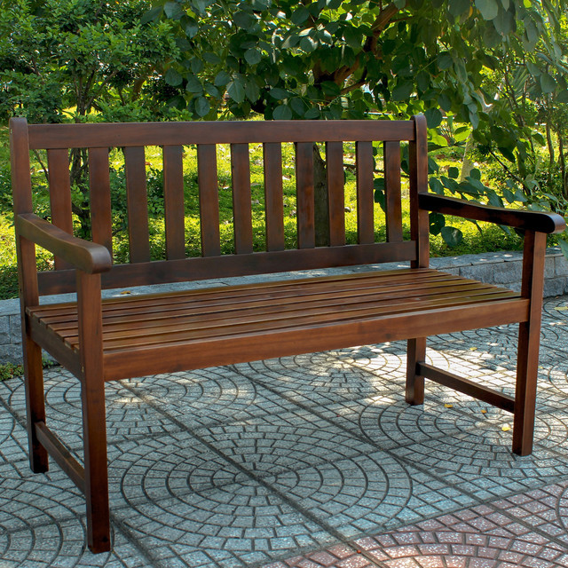 International Caravan Acacia Wood 49 inch Bench