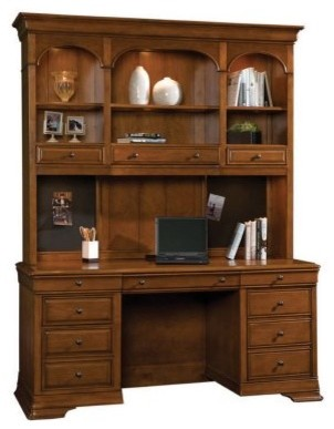 Sligh Toulouse Computer Credenza with Hutch modern dressers chests and bedroom armoires