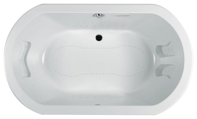 Jacuzzi-DUE6636 ACR 4CX W Duetta Acrylic 66-Inch x 36-Inch x 26-Inch Luxury Pure traditional-bathtubs