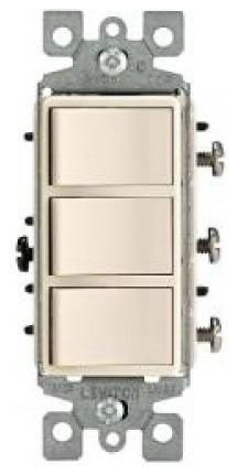 Decora 15 Amp Three Rocker Combination Switch modern-storage-units-and-cabinets