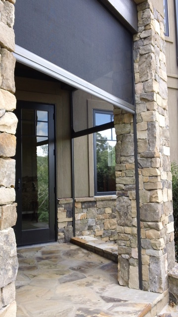 Stone columns traditional outdoor space traditional