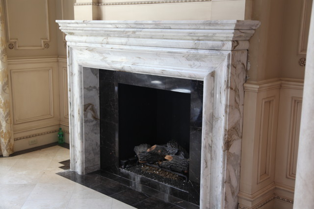 Custom Fireplace Mantle & Surround traditional-indoor-fireplaces