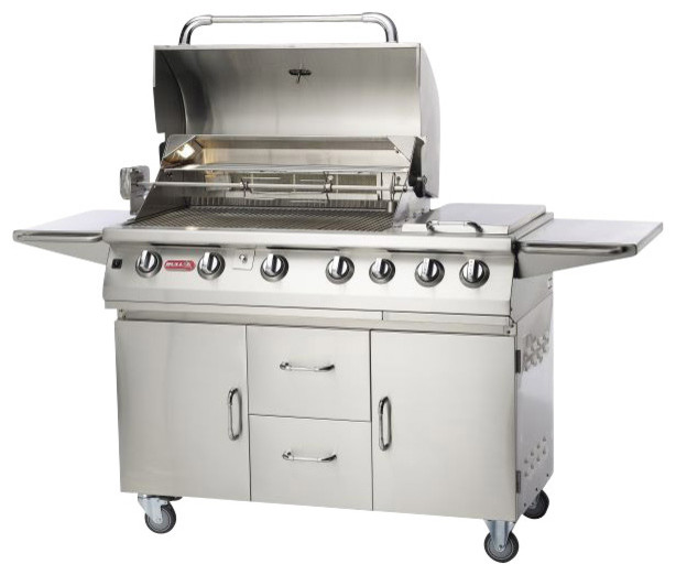 Bull Outdoor 7 Burner Premium LP Gas Grill And Cart Contemporary Outdoor