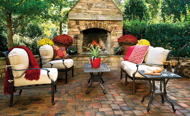 Farfalla Cast Aluminum Deep Seating Group traditional-patio