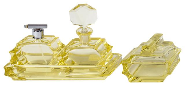 Elegant Art Deco Four-piece Vanity Set traditional-bath-and-spa ...