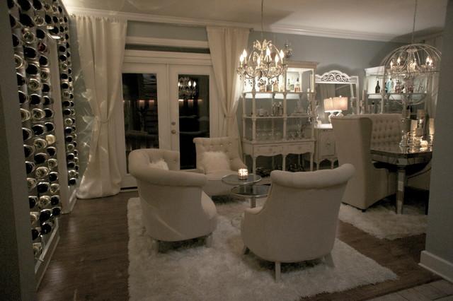 DINING ROOM TRANSFORMATION contemporary-living-room