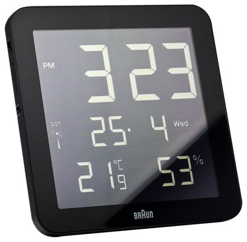 Digital Wall Clock by Braun - Modern - Clocks - by Lumens