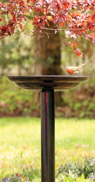 Birdbath Dark Copper modern-bird-baths