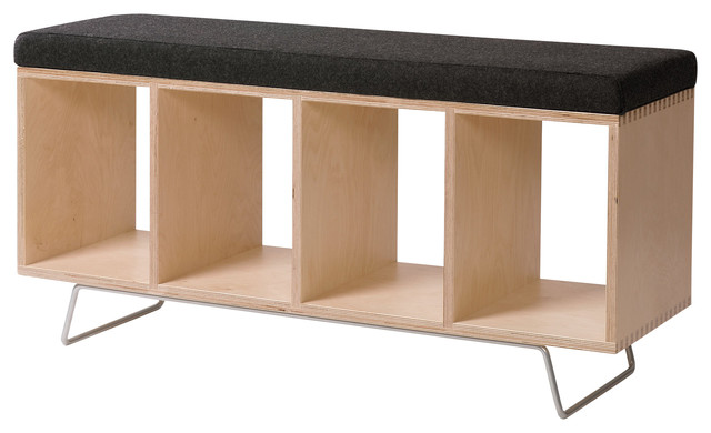 Bench Box With Pad And Legs - Modern - Indoor Benches - by ...