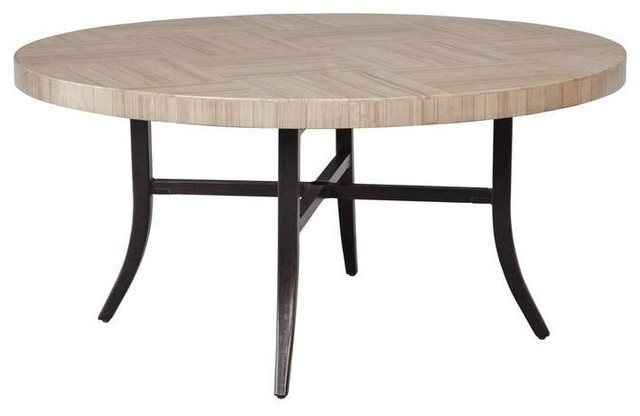 Brown Jordan Tables Greystone Patio Dining Table With Umbrella Hole STOCK