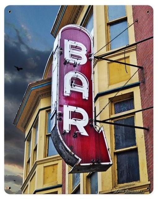 Bar Vintage Metal Sign modern-home-decor