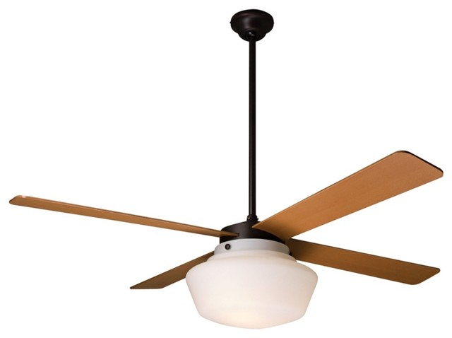 schoolhouse ceiling fan contemporary ceiling fans by lamps plus. Black Bedroom Furniture Sets. Home Design Ideas