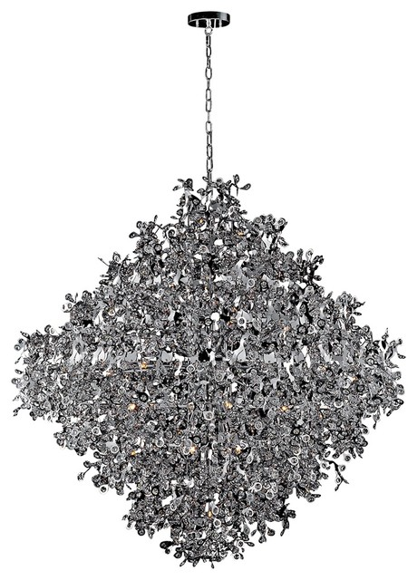 """Contemporary Maxim Comet 50"""" Wide Chrome and Crystal Chandelier contemporary-chandeliers"""