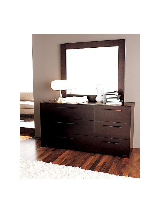 Soho Double Dresser By Doimo - The clean and simple lines of this bedroom dresser give it a sumptuous look making it wonderfully artistic. This eye-catching piece has three amply spaced, wide and three small drawers for storing your personal belongings. The classy Wenge finish provides this centerpiece an enhanced and polished look.