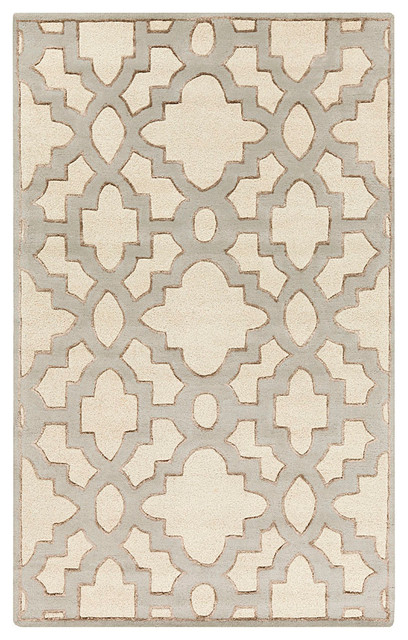 """Modern Classics Rug - Taupe and Gray - 2'6"""" x 8' transitional-rugs"""