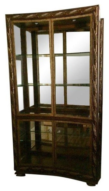 Pre-owned Drexel Heritage Concave Curio Cabinet - Transitional - China Cabinets And Hutches - by ...