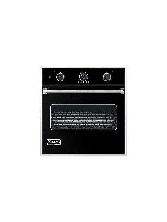 "Viking 30"" Single Gas Wall Oven, Black Liquid Propane | VGSO100BKLP - 3.3 CU FT OVEN CAPACITY"