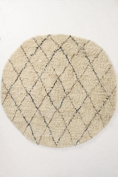 Flokati Diamonds Rug, Round transitional-rugs