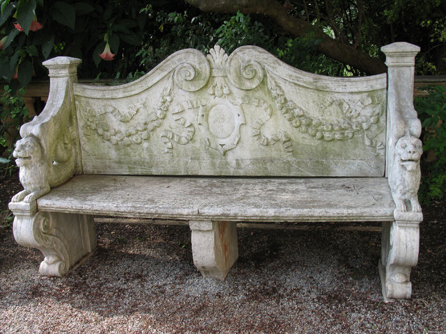 Benches Out Of Antique Limestone Mediterranean Outdoor