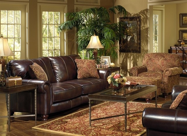 Jackson furniture oxford 2 piece stationary sofa set in - Traditional sofa sets living room ...