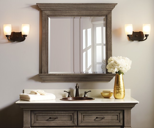 Omega Bathroom Collection Rustic Bathroom Mirrors Other Metro By A Direct Cabinet