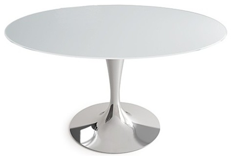 Sovet italia flute round dining table 52 inch modern for Round table 52 nordenham