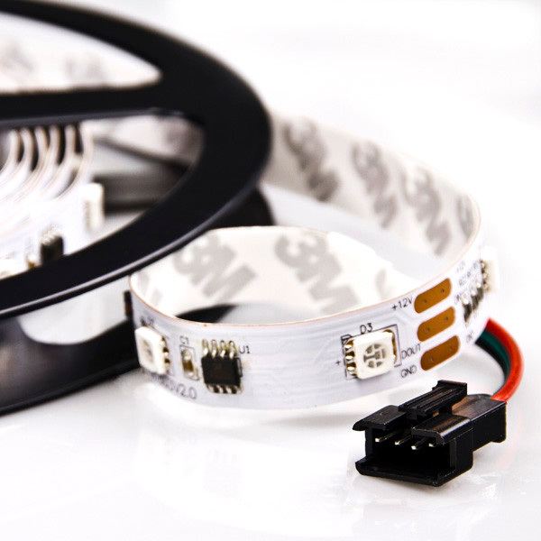 NDC series Dream-Color Flexible RGB LED Strip traditional-cable-management