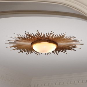 Sunburst ceiling light